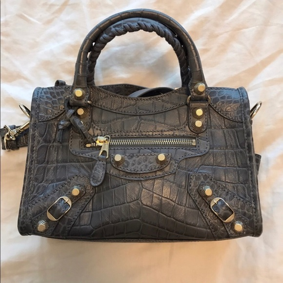 4e5b18282b Balenciaga Bags | Croc Embossed Giant 12 Gold City Mini | Poshmark